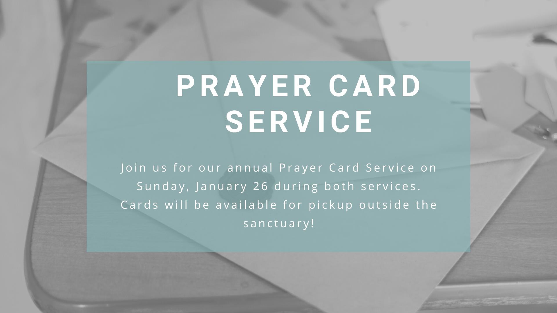 Prayer Card Service